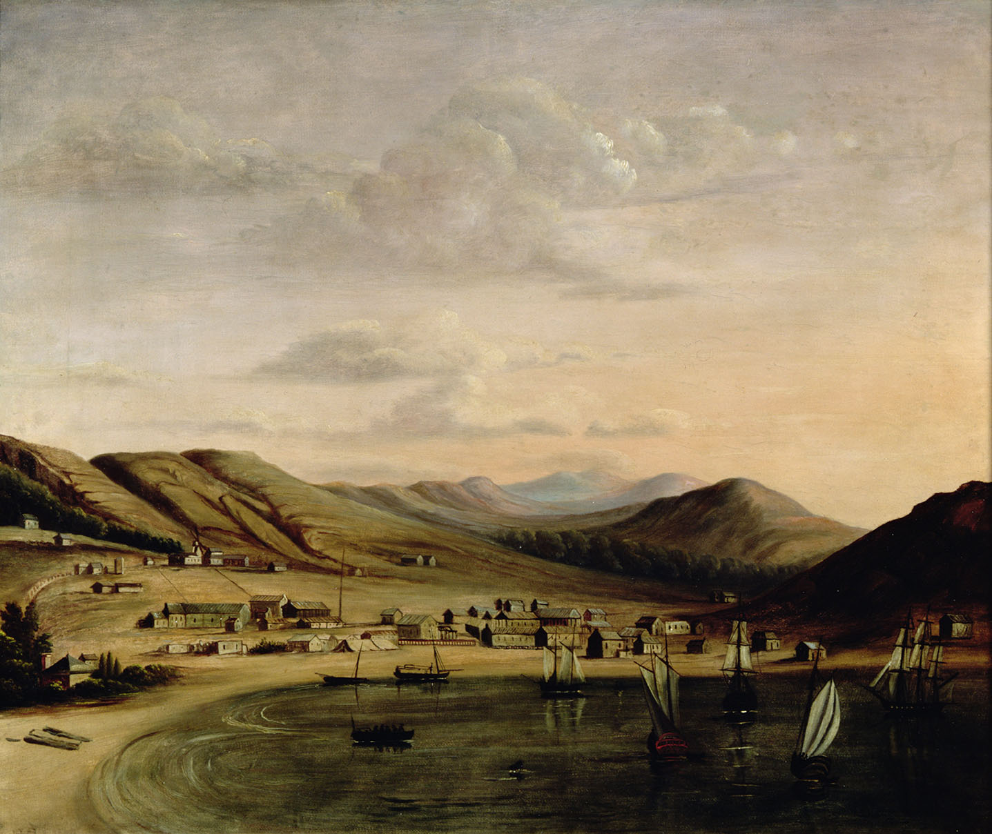 View of Yerba Buena, now San Francisco, 1847 (oil on canvas)