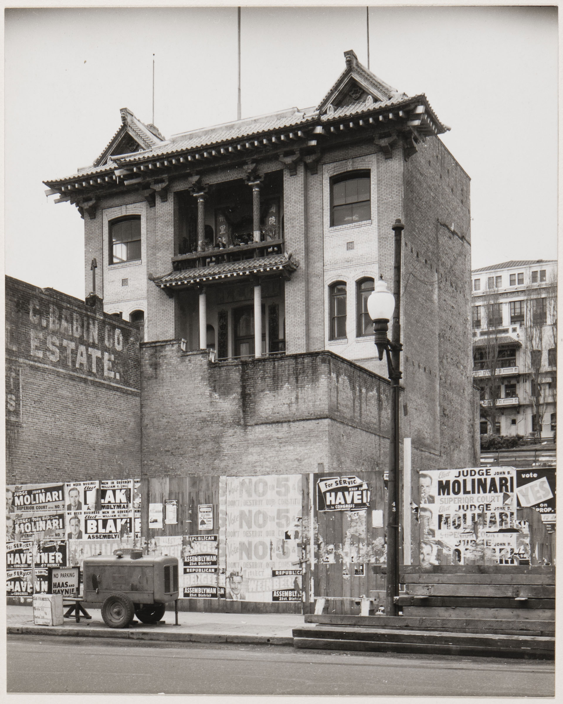 Minor White Photograph, Chinatown, San Francisco, 1953