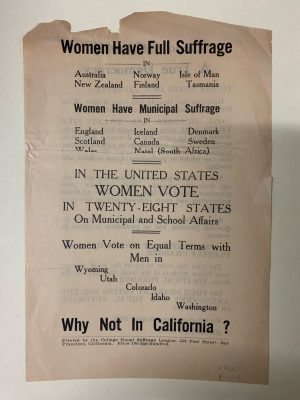 Women Have Full Suffrage Poster